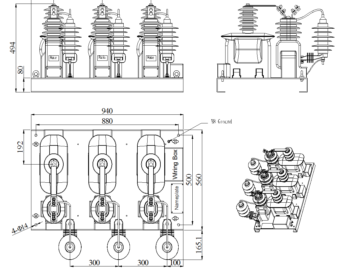 jlszxw5-17 5f outdoor combined transformer